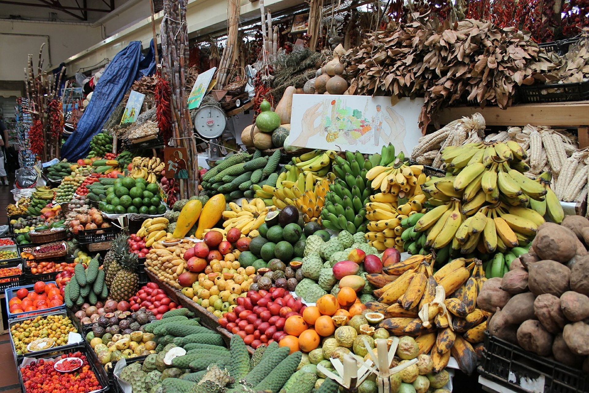 Markt in Funchal - Fly drive Madeira