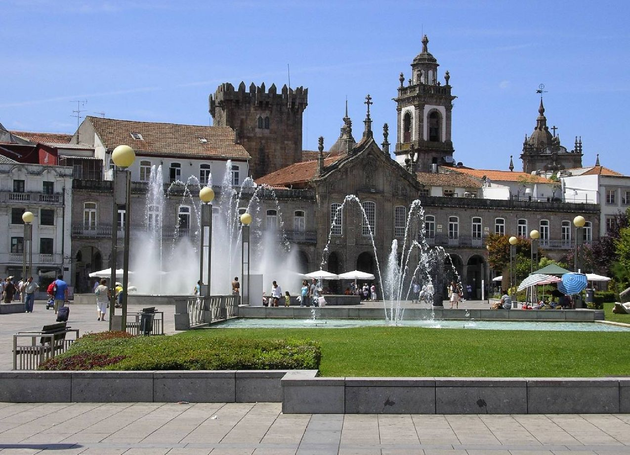 Praça de Republica in Braga - Fly drive Noord Portugal